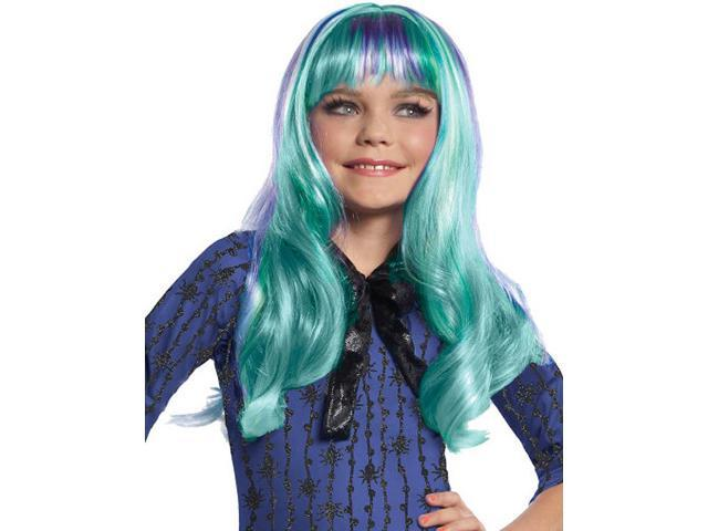 Monster High Twyla Costume Wig Child: Blue & Purple One Size