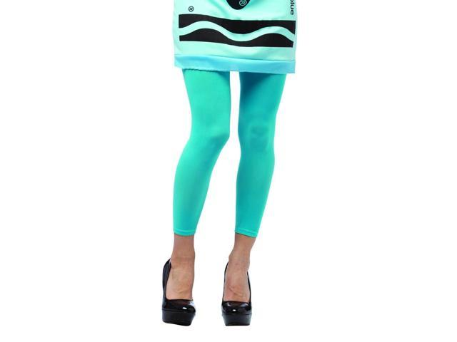 Crayola Sky Blue Footless Tights Costume Accessory Adult One Size Fits Most