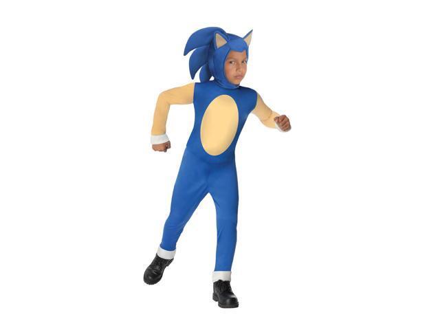 Sonic The Hedgehog Jumpsuit & Mask Costume Child Medium 8-10