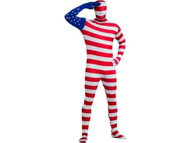 2nd Skin United States Flag Jumpsuit Costume Adult Medium 38-40