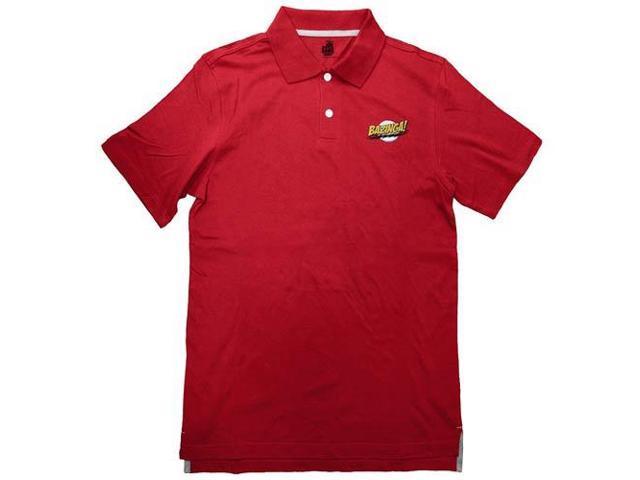 Big Bang Theory Bazinga Red Adult Polo Shirt Medium
