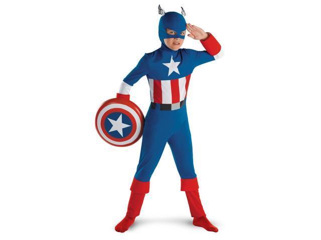 Captain America Classic Costume Child Large 10-12