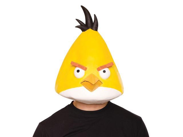 Angry Birds Yellow Latex Costume Mask One Size