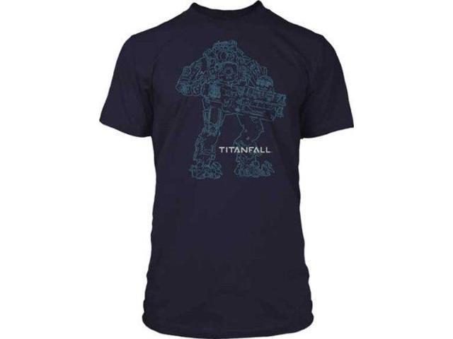 Titanfall Atlas Outline Premium Cotton Adult T-Shirt X-Large
