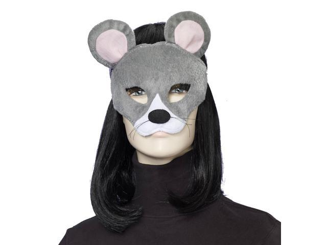 Deluxe Fuzzy Animal Mask Adult: Mouse One Size