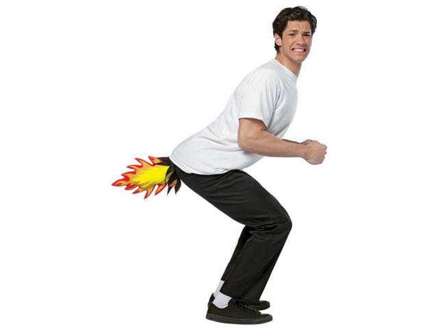 Butt Blaster Costume Accessory Adult: Flame Shooter One Size Fits Most