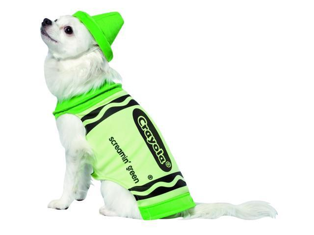 Crayola Screamin' Green Pet Dog Costume X-Small