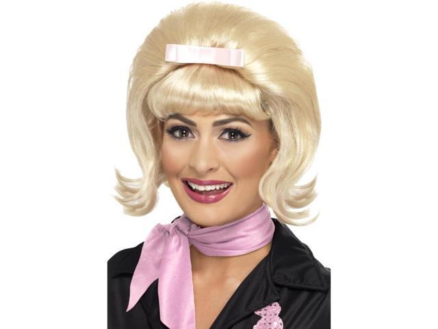 50's Flicked Beehive Bob Costume Wig Adult: Blonde One Size