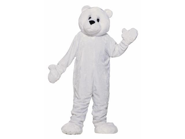 White Polar Bear Mascot Costume Adult Standard
