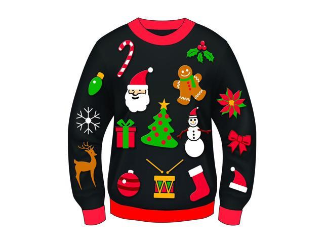 Ugly Christmas Icon Adult Sweater Medium