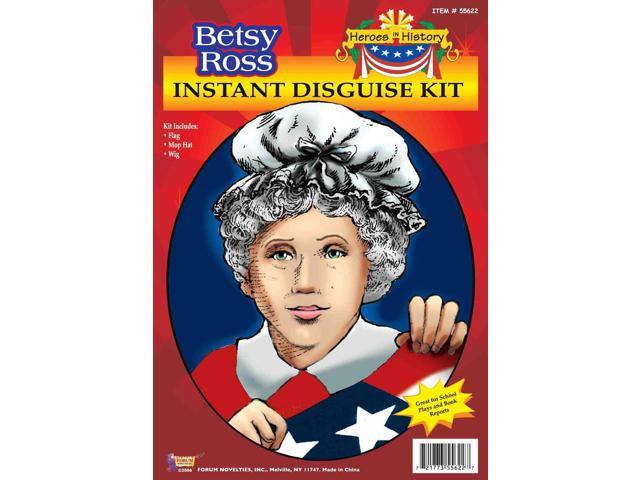 Hero's In History Betsy Ross Instant Disguise Costume Kit One Size