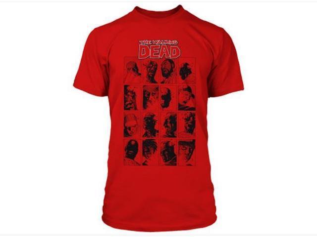 The Walking Dead Faces Premium Men's T-Shirt Large