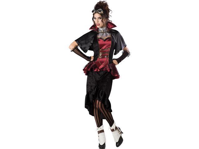 Steampunk Vampiress Elite Deluxe Adult Costume Medium