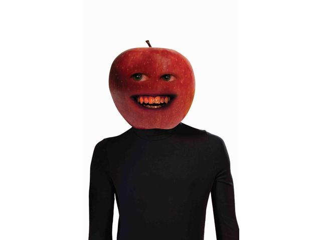 Annoying Orange Midget Apple Adult Costume Latex Mask One Size Fits Most