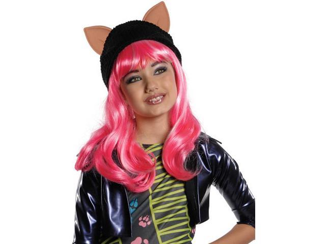 Monster High Howleen Costume Wig With Ears Child: Pink One Size