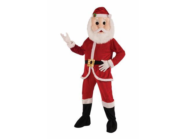 Christmas Santa Mascot Costume Adult One Size Fits Most