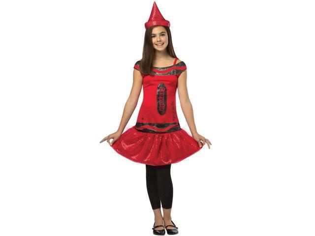 Crayola Glitz & Glitter Dress Costume Child: Big Dip O'Ruby 4-6X