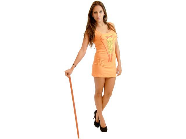 Sexy Dumb & Dumber Tuxedo Costume Tank Dress: Orange Small