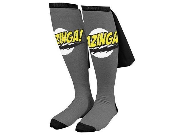 Big Bang Theory Bazinga Cape Socks Grey One Size Fits Most