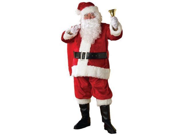 Deluxe Premier Plush Santa Suit Adult Costume Standard