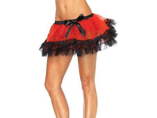 Three Tier Red Iridescent Costume Petticoat Adult One Size