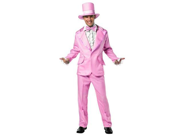 70's Funky Pink Prom Wedding Tuxedo Costume Adult Large