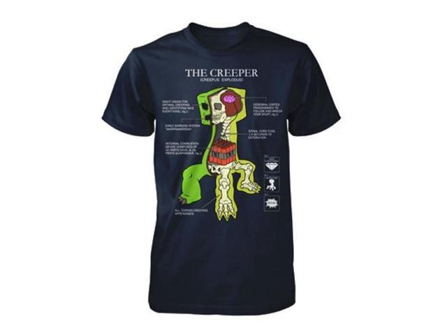 Minecraft Creeper Anatomy Youth T-Shirt Youth X-Small
