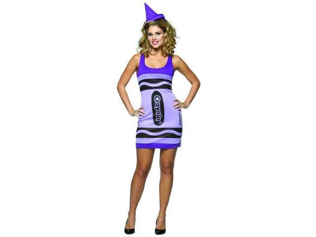 Wisteria Purple Crayola Crayon Tank Dress Costume Adult Standard