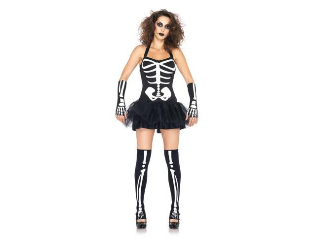 Sexy Glow In The Dark Skeleton Costume Adult X-Small 0-2