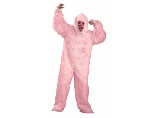 Pink Gorilla Ape Mask Costume Adult Standard