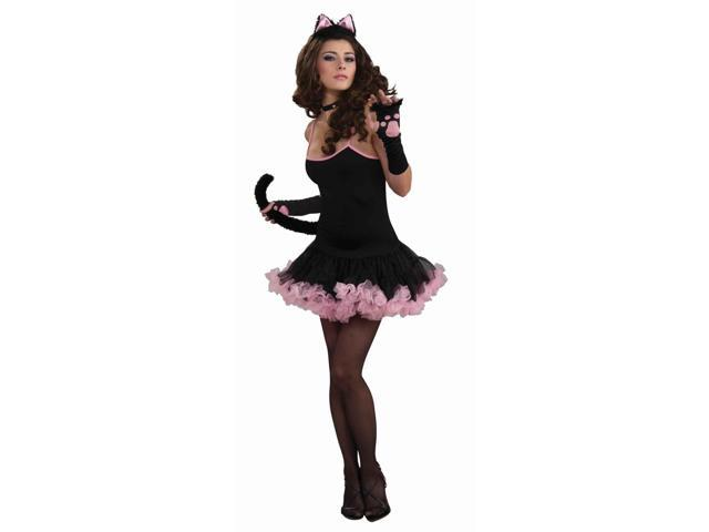 Sophistcat Black & Pink Petticoat Dress Only Costume Adult Standard