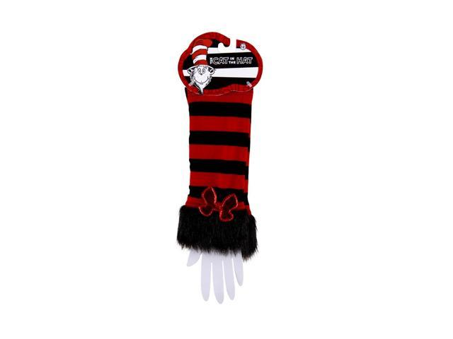 Dr. Seuss Cat In The Hat Fuzzy Costume Glovettes Adult One Size