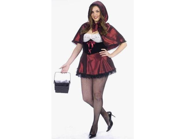 Sexy Dark Riding Hood Plus Costume Adult Plus Size