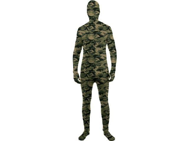 Disappearing Man Stretch Costume Jumpsuit Teen: Camo One Size Fits Most