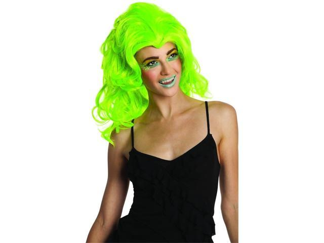New Wave Neon Green Costume Wig Adult One Size