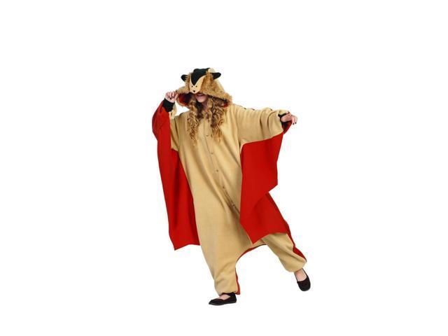 Funsies Kigurumi Skippy Flying Squirrel Fleece Jumpsuit Costume Adult One Size