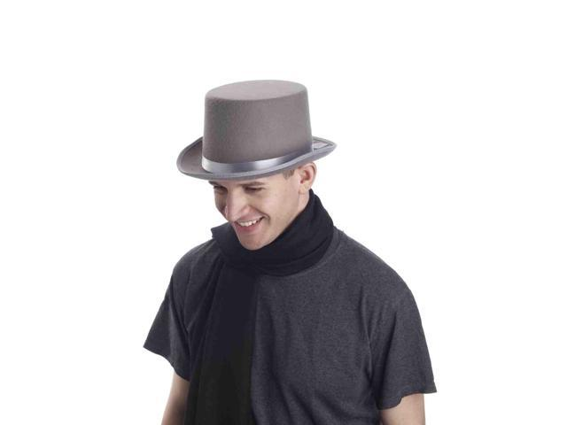 Super Deluxe Grey Adult Male Costume Top Hat One Size