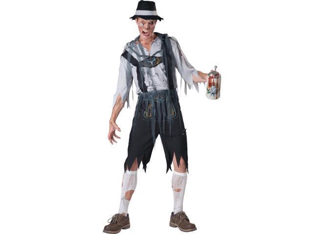 OktoberFeast Zombie Lederhosen Costume Adult Medium