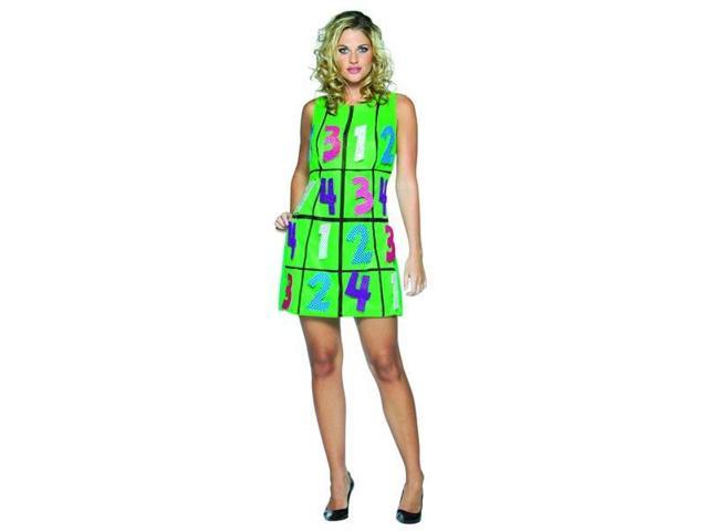 Green Sudoku Game Dress Costume Adult Standard