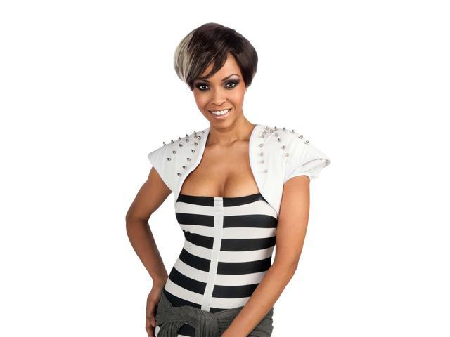 Rihanna Blonde & Brunette Two Tone Costume Wig Adult One Size