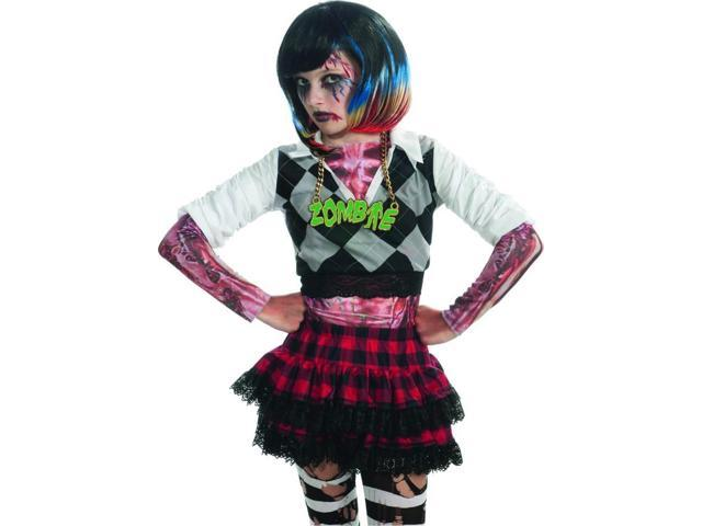 Black & Colorful Streaks Costume Wig Child One Size