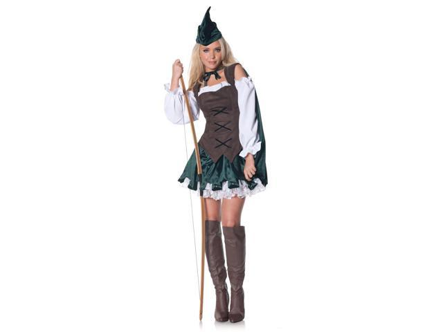 Sexy Medieval Robin Dress Costume Adult Small
