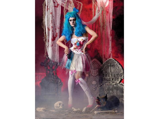 Sexy Zombie Candy Girl Dress Costume Adult X-Large 14-16