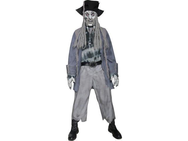 Scary Zombie Dead Ghost Pirate Costume Adult Medium