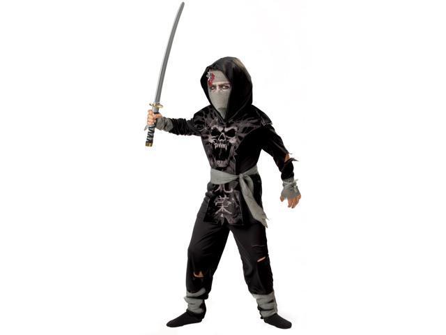 Dark Zombie Ninja Costume Child Large 10