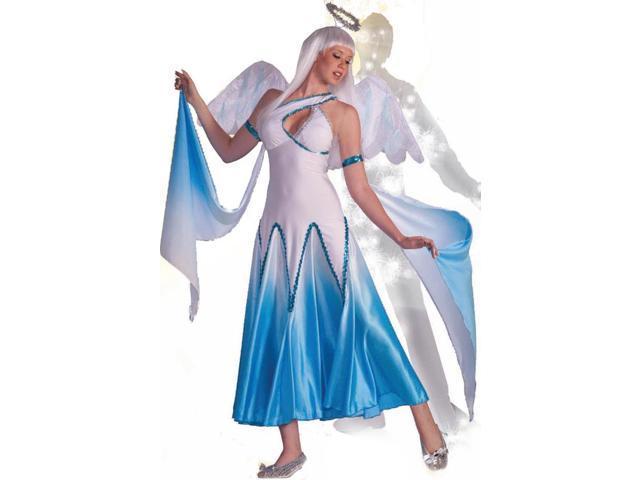Haunted Ballroom Blue & White Angel Dress Costume Adult Medium/Large