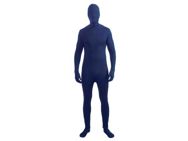 Disappearing Man Stretch Costume Jumpsuit Teen: Blue One Size Fits Most