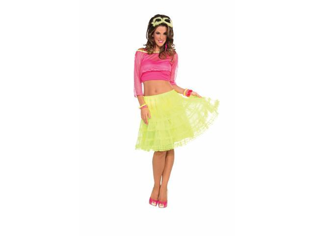 Crinoline Underskirt Costume Undergarment Adult: Neon Yellow One Size Fits Most
