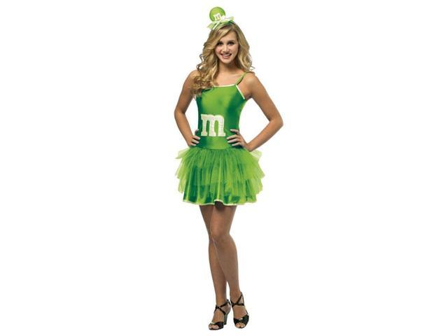 M&M's Party Dress Costume Teen: Green Teen 13-16