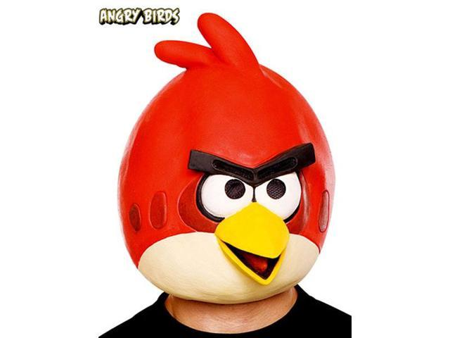 Angry Birds Red Latex Costume Mask One Size